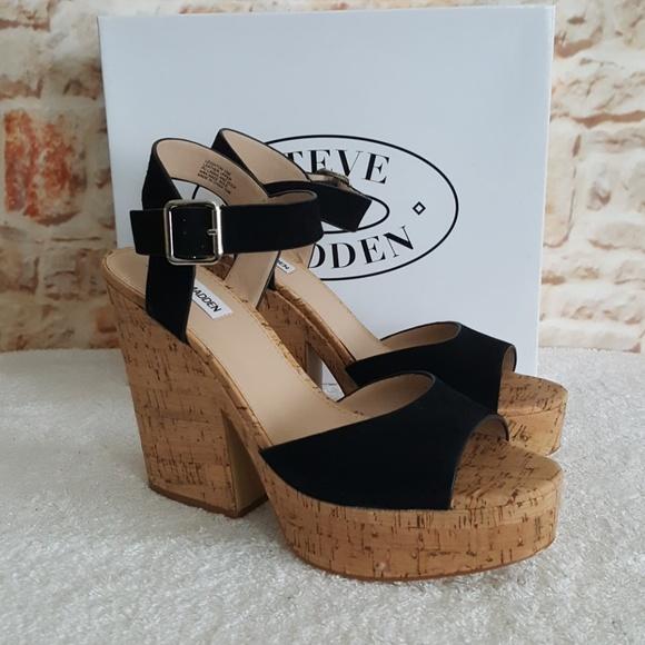 8f8de2aedab New Steve Madden Leighton Black Leather Sandals